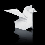 Origami paper white swan Stock Photography