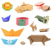 Origami papers Royalty Free Stock Photography