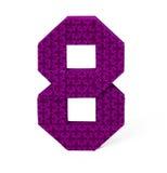 Origami papier liczba osiem Zdjęcie Royalty Free