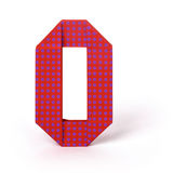 Origami papier liczba zero Fotografia Royalty Free