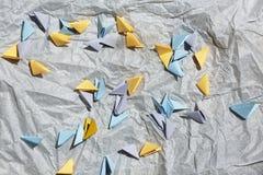 Origami, papier, puste miejsce, pojęcie, kreatywnie, handwork lat nieatutowy, przestrzeń dla tex, odgórny widok Obrazy Royalty Free