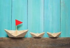 Origami Papierboote Lizenzfreie Stockfotografie