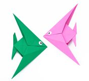 Origami Papierfische Lizenzfreies Stockbild
