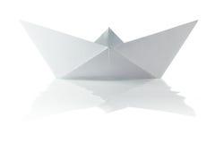 Origami papierowa łódź Zdjęcia Stock