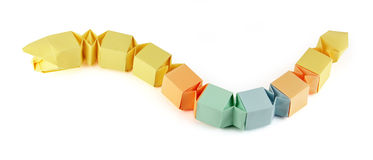 Origami Papierschlange Stockfoto