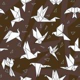 Origami papieru ptaki Fotografia Royalty Free