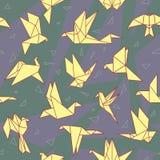 Origami papieru ptaki Obrazy Stock