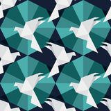 Origami papieru ptaki ilustracja wektor
