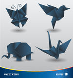 Origami Papiervektor Lizenzfreie Abbildung