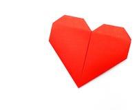 Origami pappers- hjärta Royaltyfria Foton