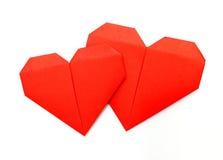 Origami pappers- hjärta Royaltyfri Bild