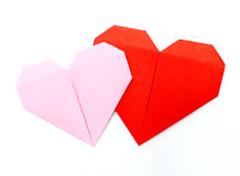 Origami pappers- hjärta Royaltyfri Fotografi