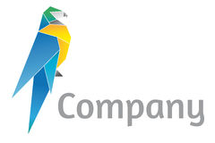 Origami Parrot Logo Template royalty free illustration