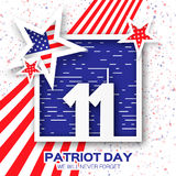 Origami Patriot Day. Royalty Free Stock Photography