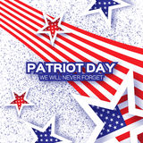 Origami Patriot Day on white background with dot. Stock Images