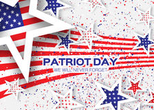 Origami Patriot Day on white background Stock Images