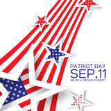 Origami Patriot Dayon white background with stars and stripes. Royalty Free Stock Image
