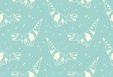 Origami pattern background with dinosaurs Royalty Free Stock Image