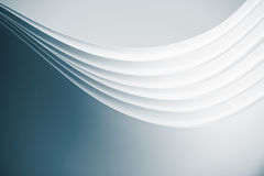 Origami pattern of curved sheets of pap royalty free stock image