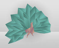 Origami peacock Royalty Free Stock Photos