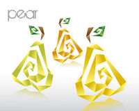 Origami pear Stock Photos