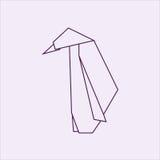 Origami penguin Royalty Free Stock Photo