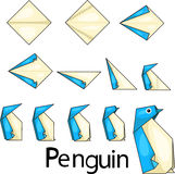Origami penguin Stock Photography