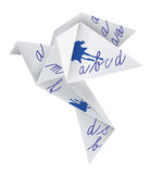 Origami pigeon with school alphabet Stock Photography
