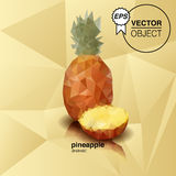 Origami pineapple. The illustation of pineapple  in origami style Stock Photo