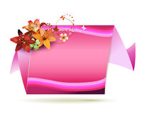 Origami pink background Royalty Free Stock Photography