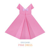 Origami pink dress Royalty Free Stock Photos