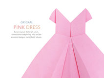 Origami pink dress Royalty Free Stock Photo