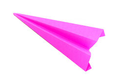 Origami pink paper planes Stock Photos