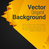 Origami polygonal abstract background. With place for text Royalty Free Stock Photography