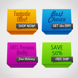 Origami polygonal sale banners Royalty Free Stock Photography