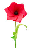 Origami poppy flower. On a white bakground stock photos