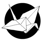 Origami ptaka wektor Fotografia Stock