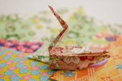 origami ptasi łabędź Fotografia Royalty Free
