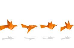 Origami ptasi latający secuence ilustracja wektor