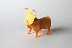 Origami pug Royalty Free Stock Image
