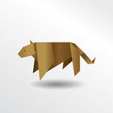 Origami puma Royalty Free Stock Images