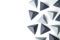 Origami pyramids abstract background. With free copy space is great for using in web Royalty Free Stock Photography