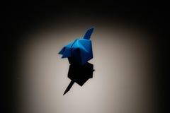Origami. Qute bule  origami. Childhood memories Royalty Free Stock Image