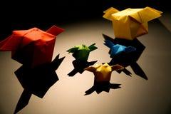 Origami. Qute colourful  origami. Childhood memories Stock Photo