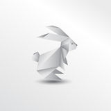 Origami rabbit stock photography