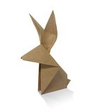 Origami rabbit. From recycled paper Stock Photography