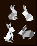 Origami Rabbits Stock Images