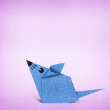 Origami rat made from Recycle Paper Stock Image