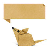 Origami rat made from Recycle Paper Royalty Free Stock Photos