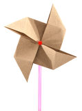 Origami recycle paper windmill Stock Photo